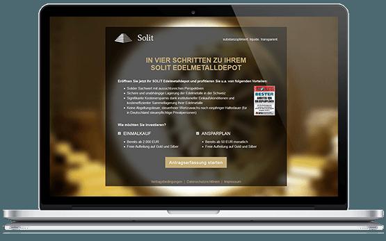 SOLIT Edelmetalldepot Online-Antragseröffnung Vorschaubild